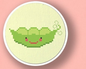 Peas in a Pod. Cross Stitch Pattern PDF File