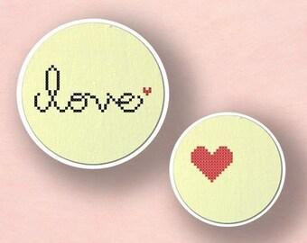 Love. Cross Stitch PDF Pattern