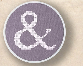 And. Ampersand Modern Simple Cute Counted Cross Stitch PDF Pattern