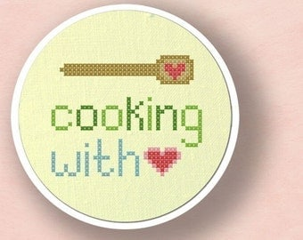 Cooking with love. Cross Stitch PDF Pattern