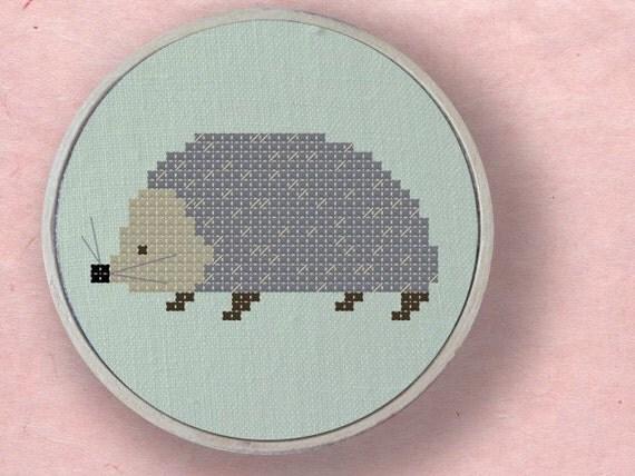 Hedgehog Cross Stitch Pattern. PDF File