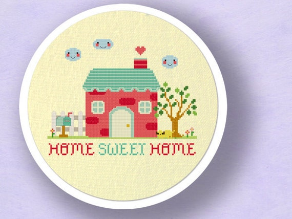 Our Sweet Home. Best Selling Cross Stitch Pattern. PDF File