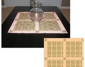 Two Fat Quarter Table Topper pdf Pattern