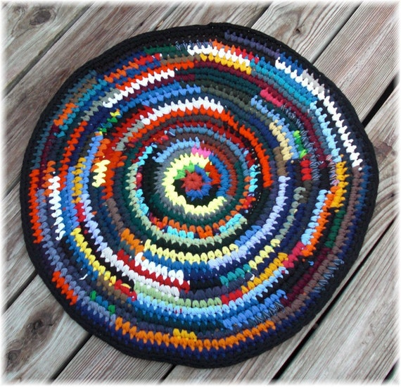 SALE Round Rag Rug 25 inches Clearance