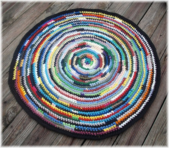 Large Rag Rugs For Sale Uk: Rag Rug Multi Color Round 41 Inches