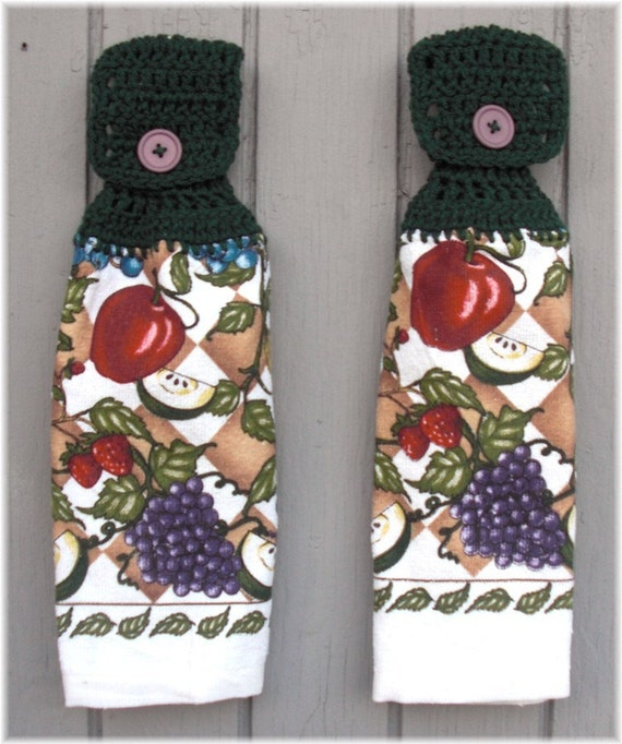 Hanging Kitchen Towels Fruit Blend Matching Pair
