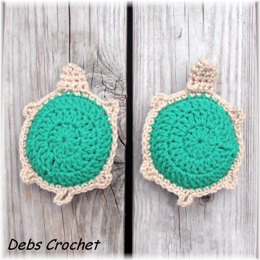 Srubby For Kitchen: Crochet Turtle Kitchen Scrubbies Set Of 2