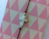 White Mini CROSS Bracelet