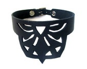 Cabaret Black Leather Choker - Necklace Statement Jewelry