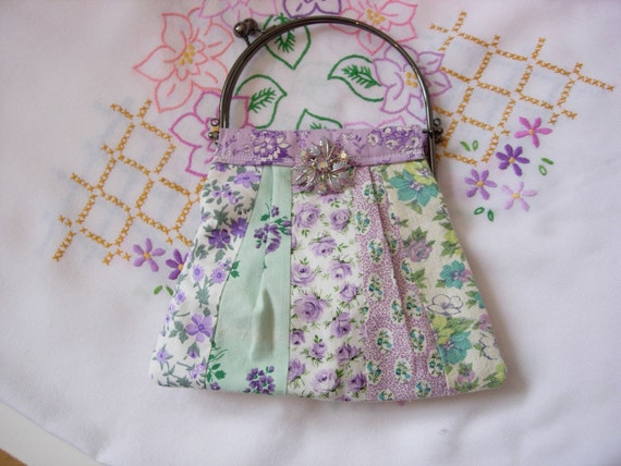 SALE SPECIAL - Peppermint Lilac Party Purse Vintage Style