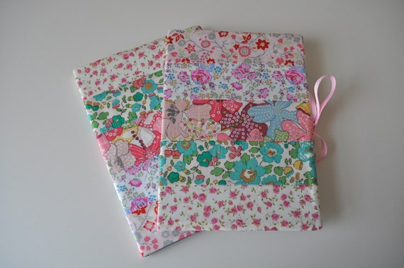 Delightful Covered Notebook A5 - Liberty Tana Lawn Patchwork