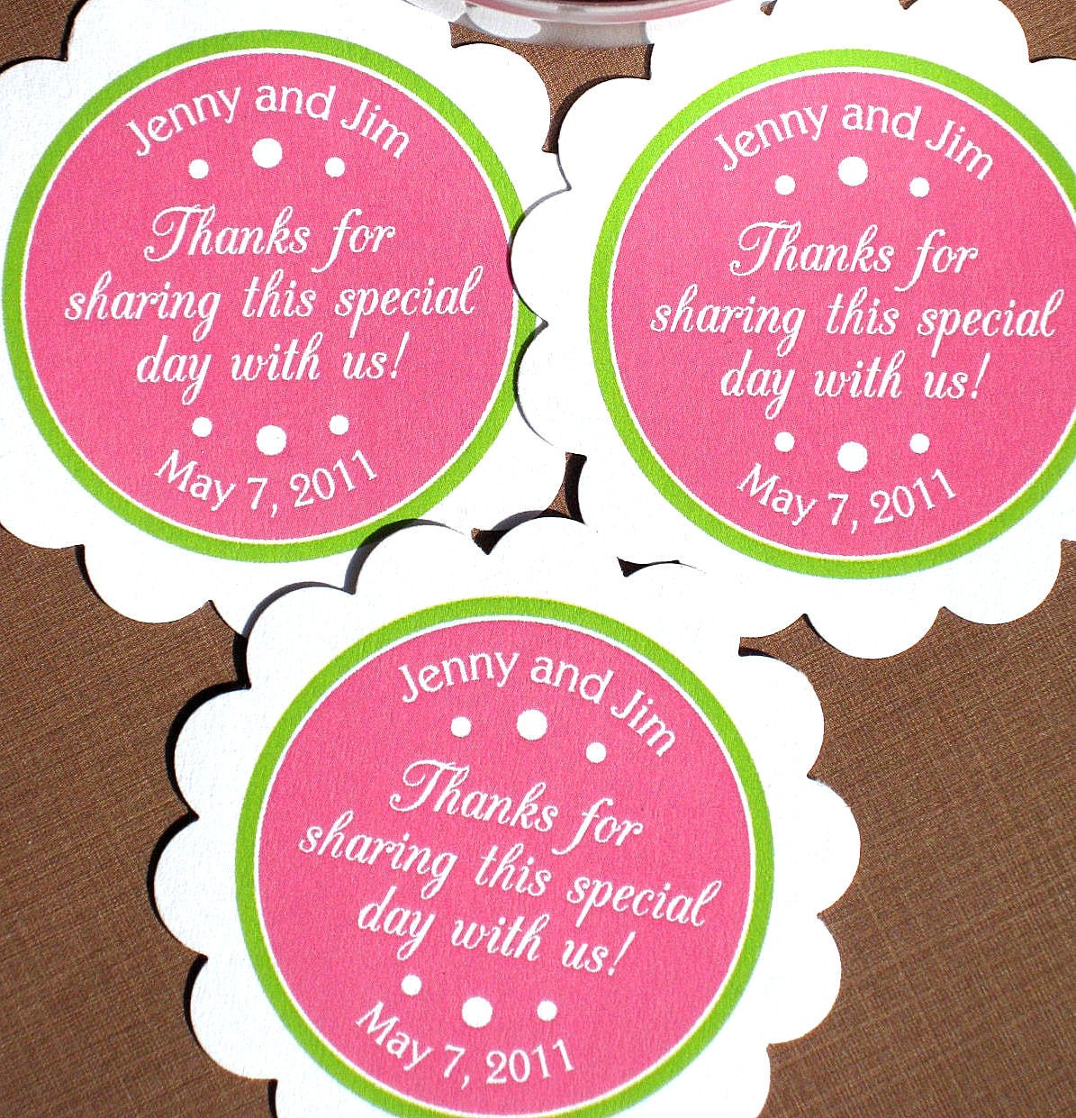 Items similar to PRINTABLE Wedding Favor Labels for Tags, Stickers ...