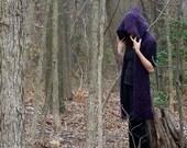 Gothic Purple Enchantment...... hoodie scarf