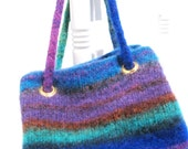 Striped Felted Purse