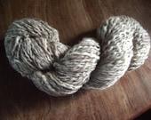 Brown sugar - beaded hand spun yarn