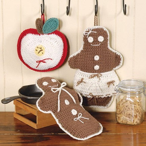 Gingerbread Man Scented- Hot Pad,Crocheted,house warming, Country Decor, Trivet,Kitchen Decor, Hot Pots