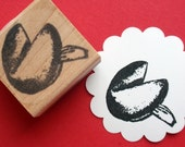 Fortune Cookie Rubber Stamp - by BlossomStamps