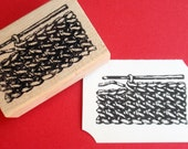 Crochet Texture Rubber Stamp  - Handmade by BlossomStamps