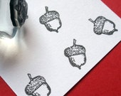 Acorn Rubber Stamp - Handmade by BlossomStamps