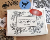 Black Ink Pad - Versafine by Tsukineko - Full sized  - The BEST ink for Detailed Rubber Stamps says Blossom Stamps
