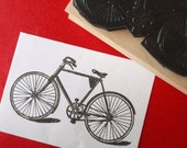 Bicycle Bike Rubber Stamp  - Sz Small - by BlossomStamps