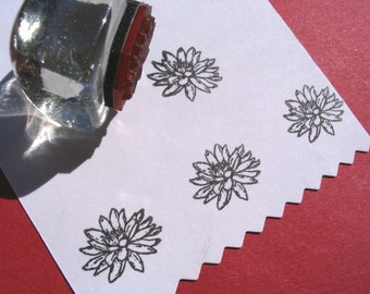 Lotus Waterlily  Rubber Stamp  -  Handmade  by BlossomStamps