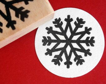 Winter Snowflake // Christmas Rubber Stamp - Handmade by BlossomStamps