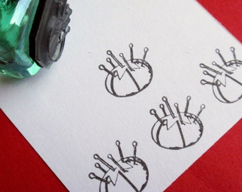 Little Pincushion Rubber Stamp Photopolymer - Handmade by BlossomStamps
