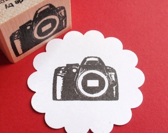 Camera Photography Rubber Stamp // Digital Camera Stamp - Handmade by BlossomStamps