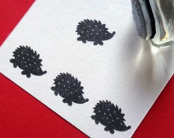 Hedgehog / Porcupine Rubber Stamp Photopolymer - Handmade by BlossomStamps