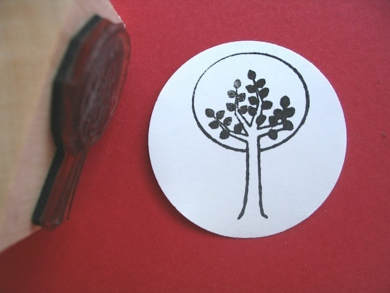 Modern Tree  Rubber Stamp Photopolymer - Handmade by BlossomStamps
