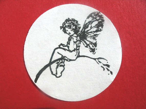 Fairy Rubber Stamp  - Handmade rubber stamp by Blossom Stamps