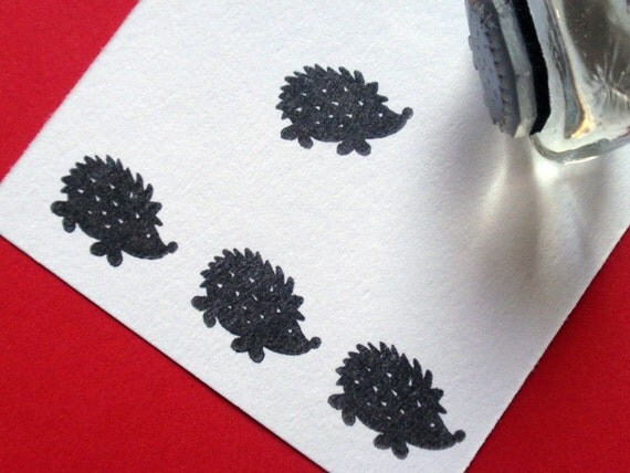 Hedgehog / Porcupine Rubber Stamp Photopolymer - Handmade by BlossomStamps