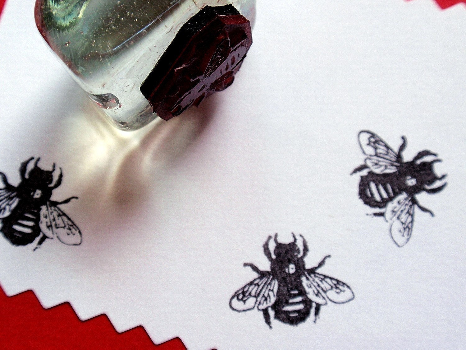 Honey Bee Rubber Stamp - Handmade Rubber Stamp by ... - photo#22