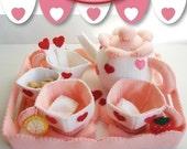 Sweet Heart Tea Party Set - PDF Pattern