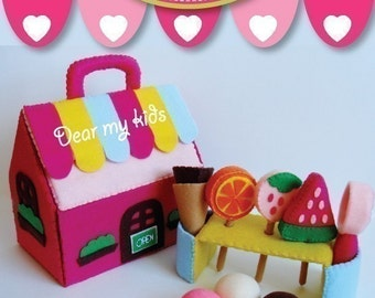 Tutti Frutti Ice-cream Shop Play Set- PDF Pattern