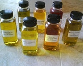 Infused herbal oils Arnica   White Sage Calendula Comfrey Chamomile Chickweed