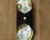 8.5inch Cloth Menstrual Pad (Bamboo Velour, Hemp Fleece, PUL Waterproof) -Peaceful Planet