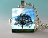 The Sentinel Tree Scrabble Tile Art Pendant