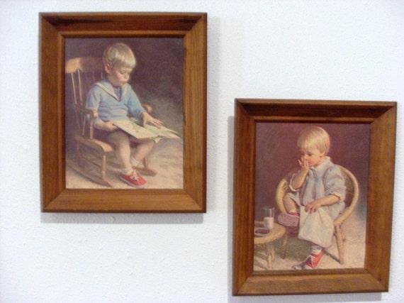 Items similar to Rare Vintage J. Ingwersen Prints Gary and ...