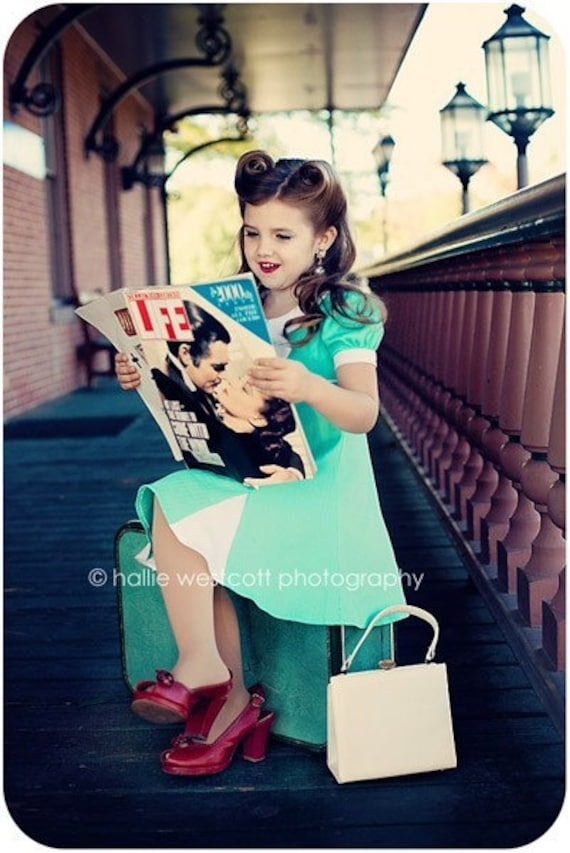 cute haircuts for kids items similar to 1940s 1950s child size dress made to size 1940 | il 570xN.182685643
