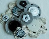 going gray mix embellishments