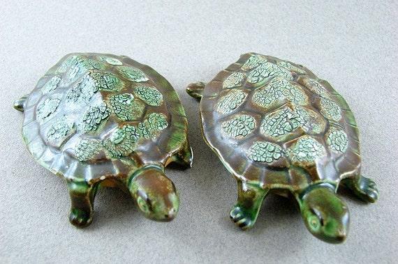 Vintage Anatomically Correct Ceramic Turtles