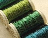 Copper wire  28 Gauge  - ocean colors - 4 spools
