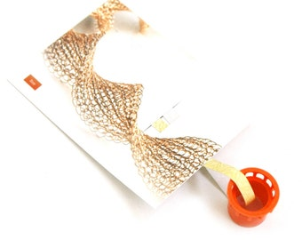 Wire crochet tool ISK invisible spool knitting Starter tool SMALL Wire work loom yoola pattern tube necklace starter