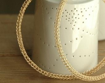 GIANT crochet gold hoop earrings - Gold hoop earrings - Gypsy earrings -Boho earrings - Large hoop earrings - ethnic earrings