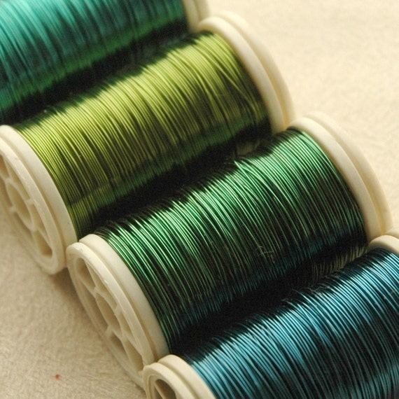 Copper Wire 28 Gauge Ocean Colors 4 Spools