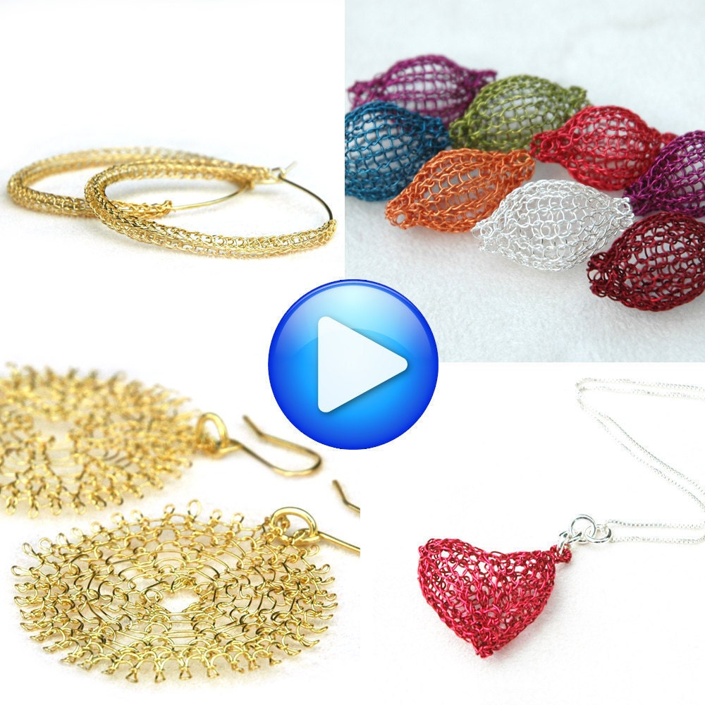 Crochet Stitches Jewelry : Wire crochet patterns combo jewelry instructions by Yoola