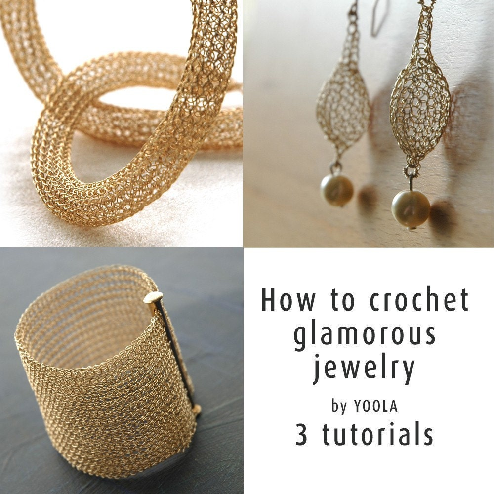 Crochet Stitches Jewelry : How to wire crochet glamorous jewelry tutorials crochet by Yoola