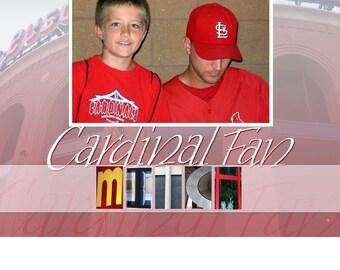 Cardinal Fan personalized photo mat
